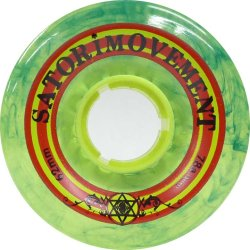 画像1: SATORI SOFT WHEEL -RASTA CRUISER- 62mm