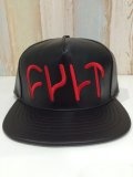 CULT LEATHER LOGO CAP